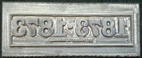Boosel 1873-1873 title printing plate