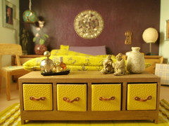 Low dresser made by Patrizia Santi (pubdoll) Tags: bedroom barton oriental 34 116 dollhouse dollshouse lundby 116scale 34scale modernminiature pollyline