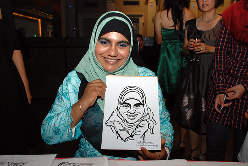 Caricature live sketching for Autism Association(Singapore)- Staff Dinner 2010 - 5