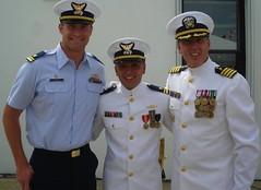 Chaplain Weeden with LTJG Foos and LTJG Drysdale (Coast Guard Senior Leadership) Tags: coastguard capt chaplain weeden