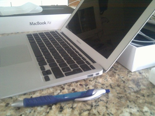 Welcome home Ms. MacBook Air.