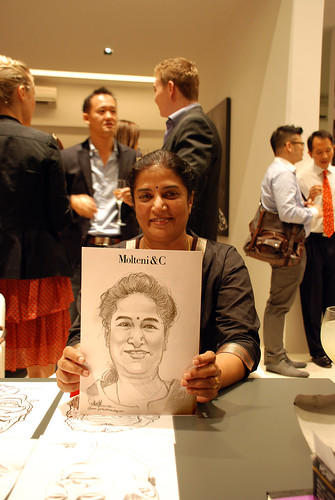 Portrait & Caricature live sketching for Molteni & C - 3