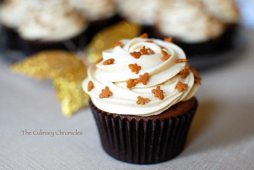 Gingerbread Cupcakes with Spiced Molasses Frosting