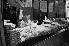 The Boqueria Market (Sami T (currently traveling)) Tags: barcelona bw film 50mm spain pentax k1000 hp5 ilford boqueria