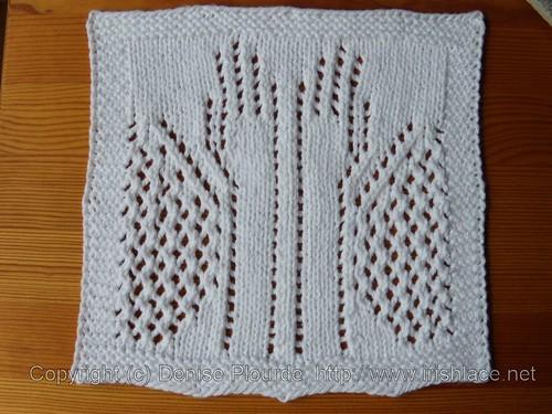 Blink washcloth, single decrease variation