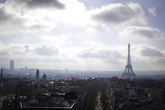 Among the Clouds (Melanie Alexandra Photography) Tags: paris france clouds eiffeltower arcdetriomphe
