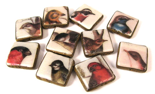 Bird Bead Charms Group 2