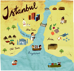 map of istanbul (mw82) Tags: food illustration magazine jamie oliver map istanbul vector