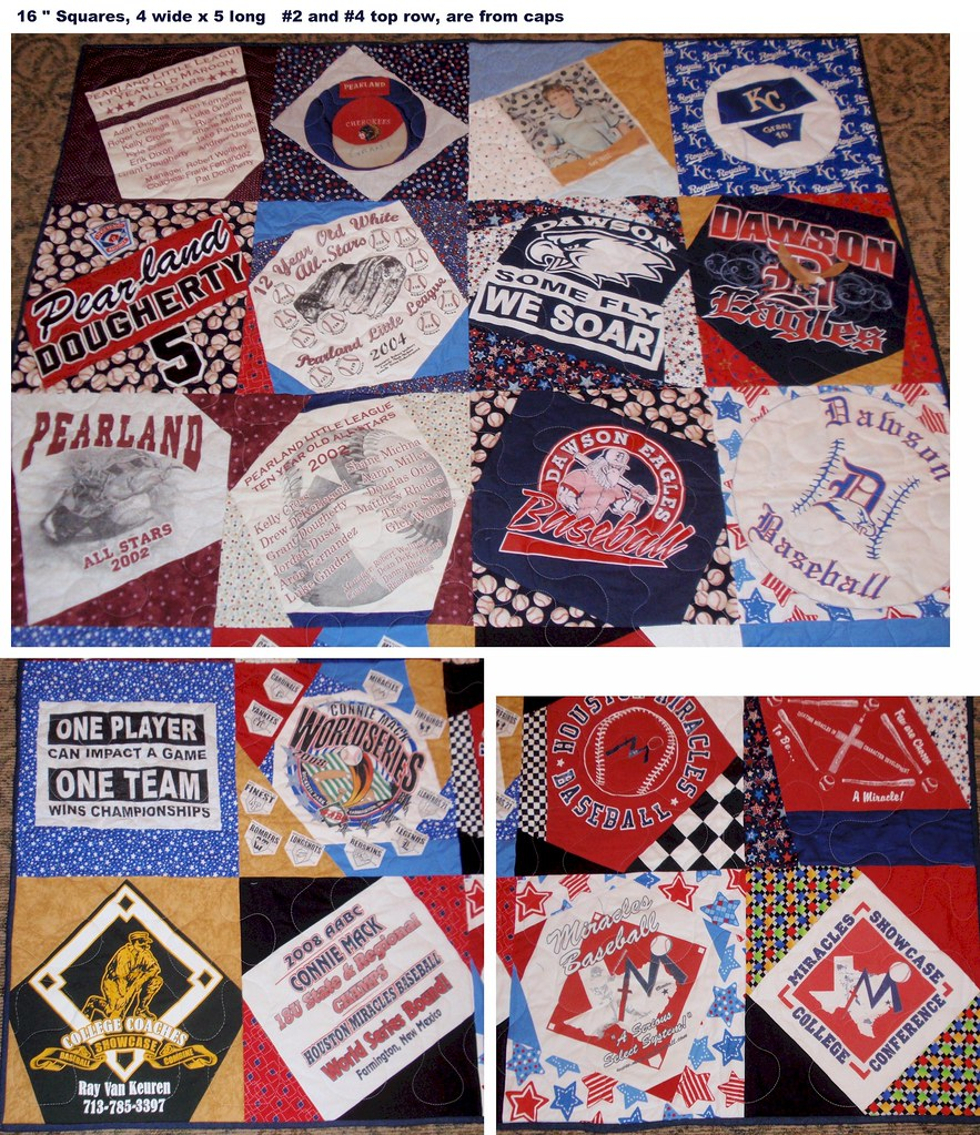 Family History T-Shirt Quilt 4 x 5 blocks