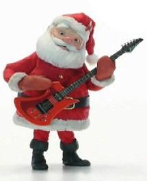 聖誕老公公彈吉他