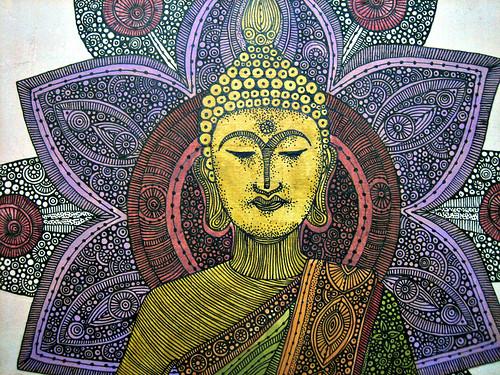 sitting buddha details