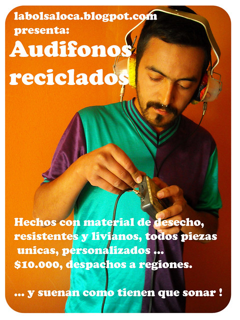 Audifonos reciclados