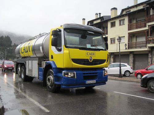 Camió Renault a Martinet de Cerdanya