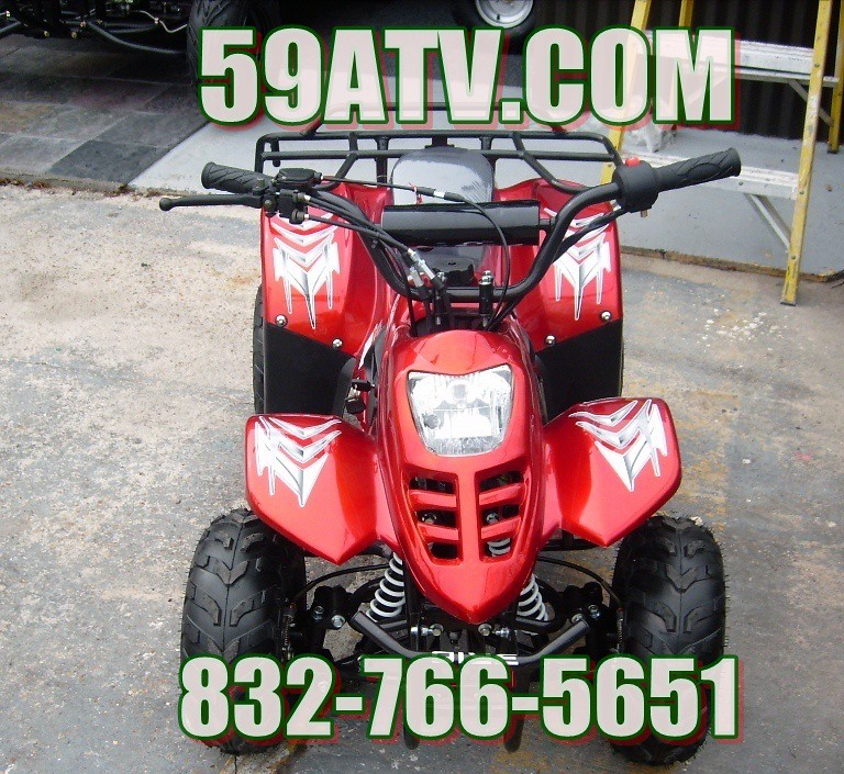 CANDY APPLE RED 110CC ATV KIDS 4-WHEELER 59ATV.COM