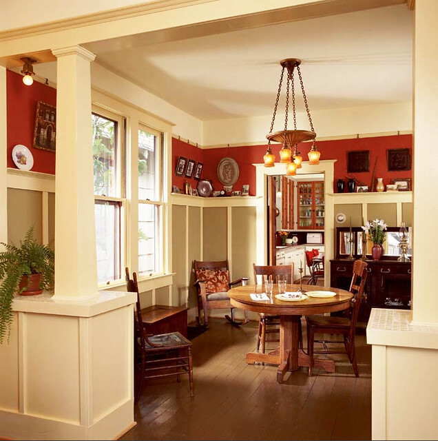 bungalow_wainscotting_salmon_diningroom