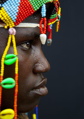 Close up of a Mumuhuila woman - Angola (Eric Lafforgue) Tags: africa hot macro tourism face closeup nose beads african femme profile culture tribal heat sweat tribes blackpeople tradition tribe ethnic nez cultura tribo visage angola ethnology tribu tourismo herero chaleur perles etnia sueur tnico etnias angolan ethnie hereros wompan 80356  mumuila  muhuila  suldeangola mumuhuila mwila      southangola