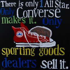 There is Only 1 All Star. (spinadelic) Tags: red vintage emblem logo shoe one star is all ad style icon it goods american converse taylor only there sneaker chuck makes sell sporting tread copy shoelaces dealers stevespencerartartistacrylicpaintpaintingslittlerockarkansasspinadelic comdecember2010