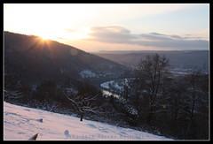 Neckargemünd View III (boettcher.photography) Tags: schnee winter snow river germany deutschland december view dezember blick neckar neckargemünd dilsberg badenwürttemberg flus winter2010 sashahasha