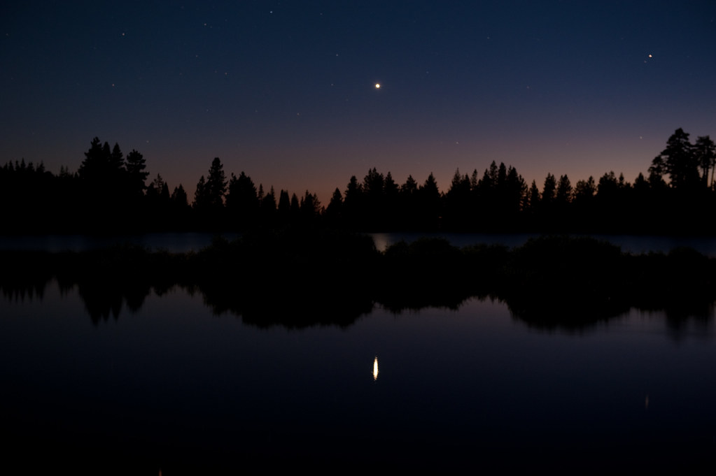 Venus over Manzanita Lake