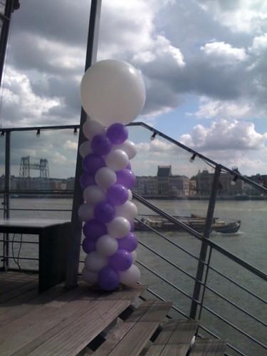 Ballonpilaar Breed Rond Blitz Rotterdam