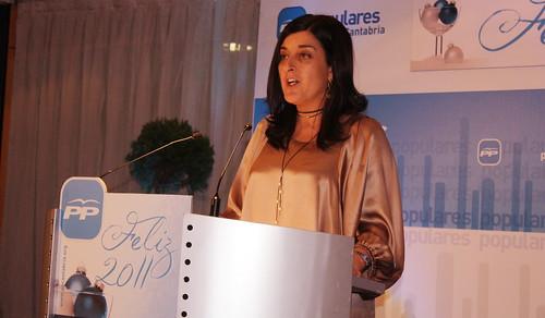 María José Sáenz de Buruaga secretaria autonómica del Partido Popular de Cantabria