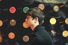 record wall (laurenmarek) Tags: light boy portrait music records vintage nikon texas profile johnthomas adobe lightroom d300s laurenmarek johnthomasmarek