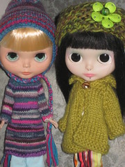Hiccup & Billy (Blue-Eyed Undertaker) Tags: billy piercings hiccup customblythe nostalgicpop tattookittencustom megipupusweaterhat