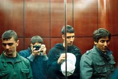 Elevator | Minolta Maxxum 7000 (josh//chitwood) Tags: city urban film 35mm vintage circle 50mm focus minolta indianapolis elevator indy indiana indie roll hd cvs maxxum 7000 naptown kodack