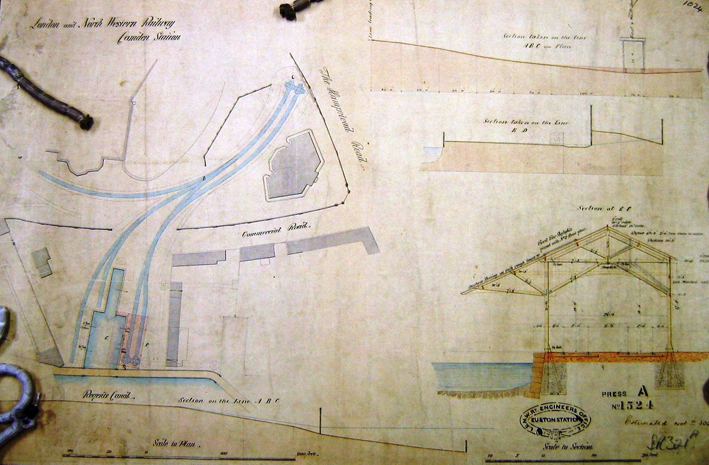 [Image of LNWR interchange facilities, 1848]