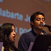 Members of the Latino Student Alliance lead chapel as part of the Latino Heritage Month.