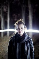 (The Vision Beautiful) Tags: longexposure winter portrait girl night forest slowshutter flashlight mackenziewillems