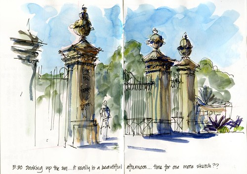 101224 Sketchy Xmas Eve08 Botanic Gardens Gates