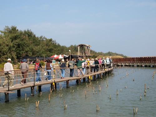 台江內海沙洲的小碼頭