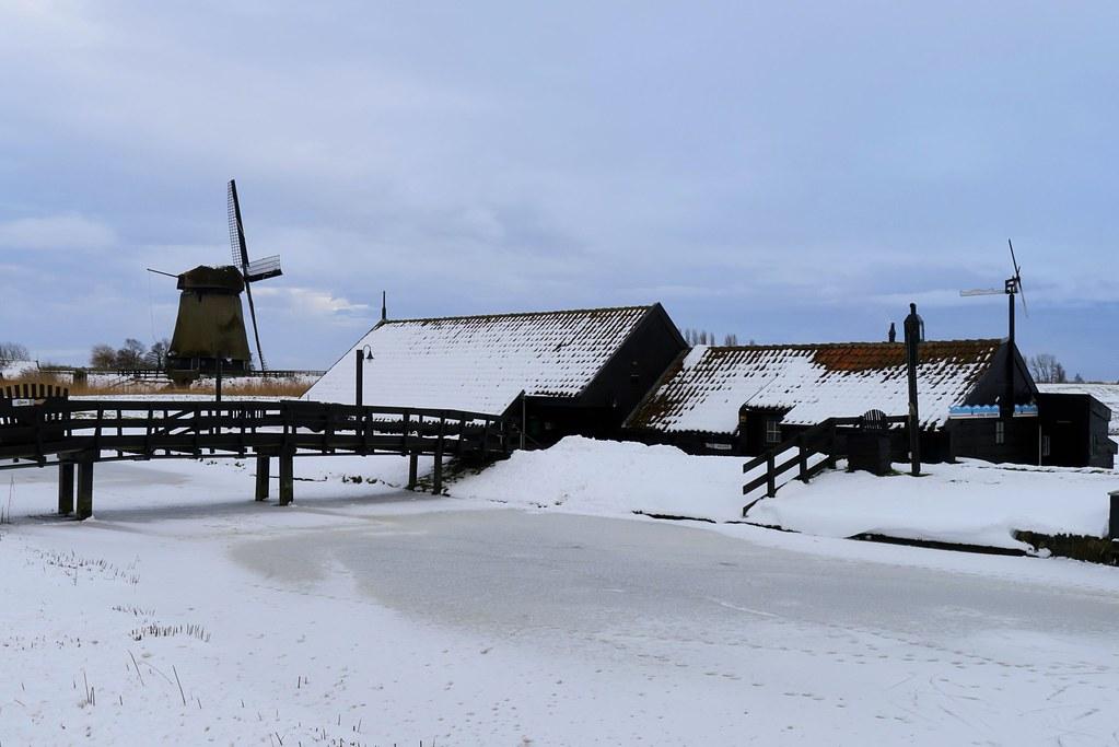 Windmill in the Schermer polder - bovenmolen E