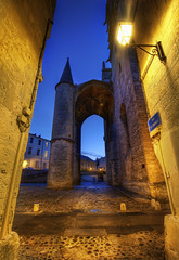 The Castle Alley (Stuck in Customs) Tags: world street city travel sunset france castle history stone architecture night digital french photography blog high alley europe republic dynamic stuck state dusk walk south capital montpellier medieval historic september southern photoblog software processing western historical imaging region range roussillon department hdr languedoc tutorial trey travelblog customs 2010 paved southernfrance herault erau ratcliff hdrtutorial stuckincustoms lemidi treyratcliff photographyblog stuckincustomscom herault nikond3x republiquefrancaise lengadocrosselhon llenguadocrossello montpelhier