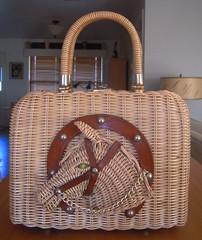 Wicker 3D Horse Purse (CollectoratorOne) Tags: horse vintage purse 1950s western horseshoe wicker