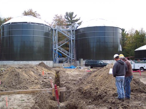 Construction of the new USDA funded wastewater treatment system continues in the community of West Branch. (Photo courtesy of the City of West Branch)