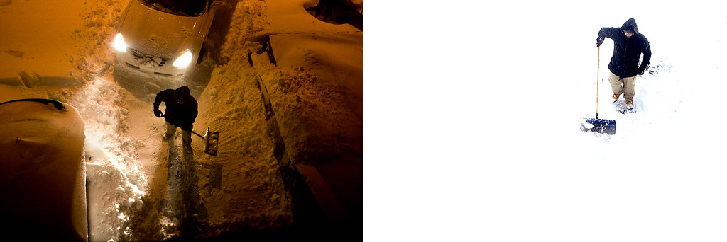 Snowstorm Diptych