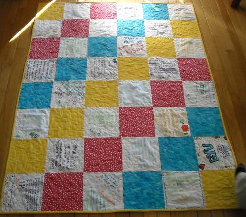 Jessie's graduation quilt