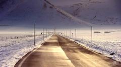 La strada (Massimo Feliziani) Tags: road parco snow fog nikon strada via explore route neve inverno frontpage montagna norcia castelluccio foschia nazionale sibillini