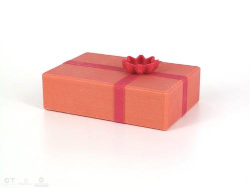CreativeTools.se - PackshotCreator - 3D printed - ZPrinter - Xmas gift box - Julklappslåda