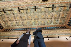 Artesonado en el Palacio de la Aljafera (Zaragoza Turismo) Tags: art arte monumento palace zaragoza monuments turismo castillo palacio mudjar aljafera