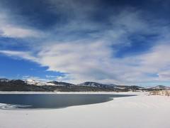 Carter Lake (Eli Nixon) Tags: winter sky snow clouds colorado january rockymountains frontrange carterlake larimercounty elinixon morningdrivewithgrover canons90