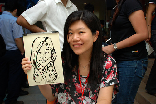 Caricature live sketching for BAT White Christmas Party 2010 - 33