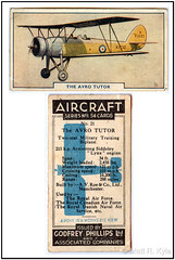 Avro Tutor (mrkyle229) Tags: advertising airplane scanner aircraft aviation aeroplane wills collecting avro tutor cigarettecards godfreyphillips