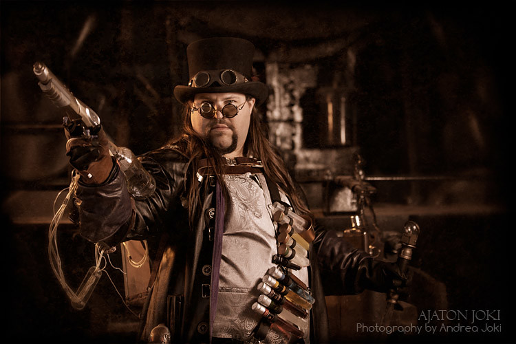 Steampunk fashion shoot with Joshua Hart