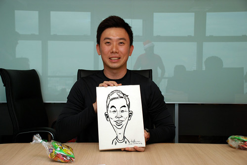 Caricature live sketching for Vopak Christmas Party 2010 - 16