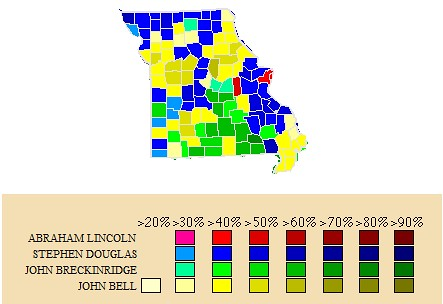 Missouri in the 1860 election