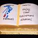 Mast retirement cake