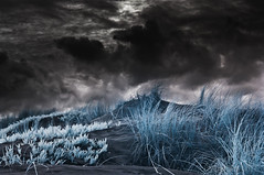 storm (gobo_x (marimba)) Tags: ocean sf sanfrancisco california storm color beach clouds landscape ir coast sand dunes cosina voigtlander infrared 20mm voigtlnder skopar f35 k7 modifed ggnpc11
